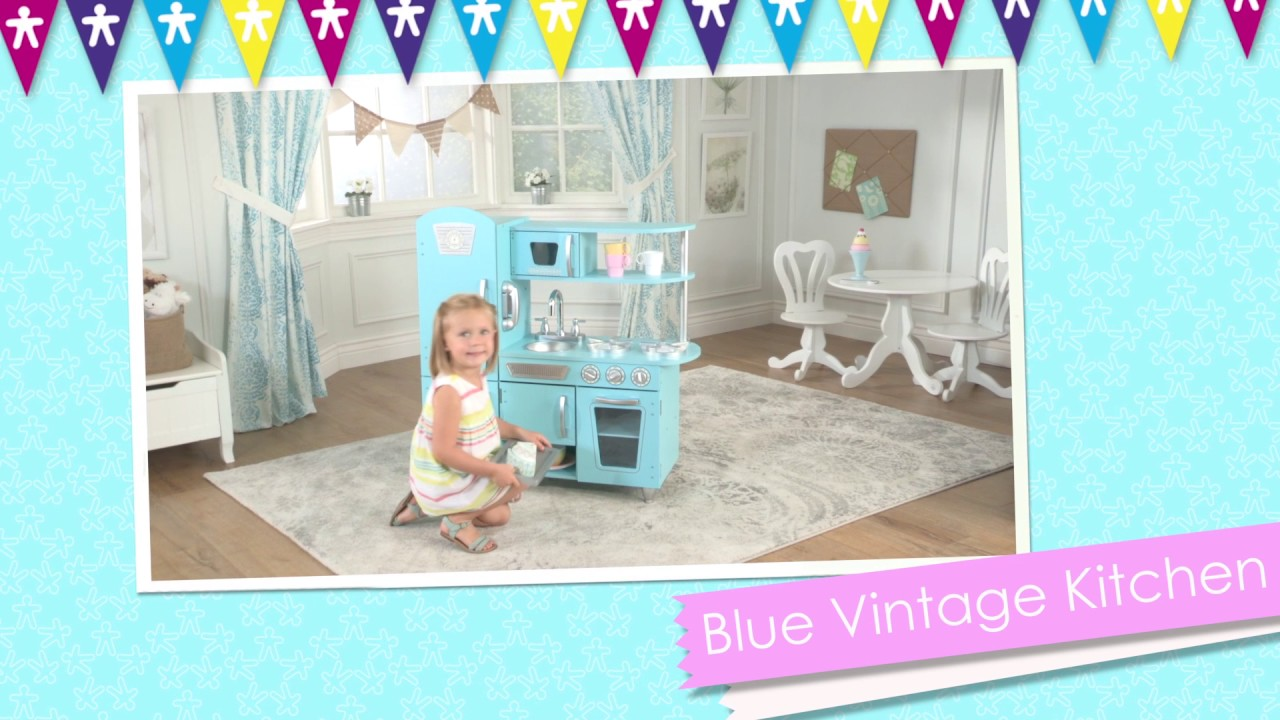 Children\'s Blue Vintage Play Kitchen - Toy Review - YouTube