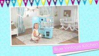 Children's Blue Vintage Play Kitchen - Toy Review