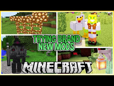 Trying Out Brand New Mods In Minecraft!
