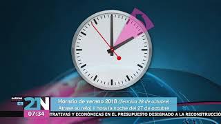 Horario de verano 2018