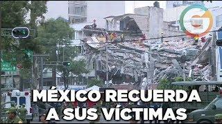 México recuerda a sus víctimas, a un mes del sismo #Homenaje19S