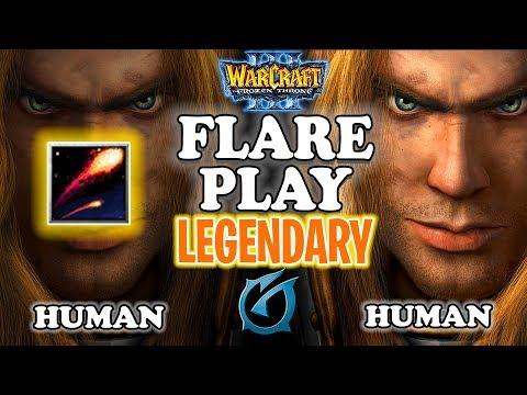 "Grubby | ""Flare Play"" [LEGENDARY] | Warcraft 3 | HU vs HU | Concealed Hill"