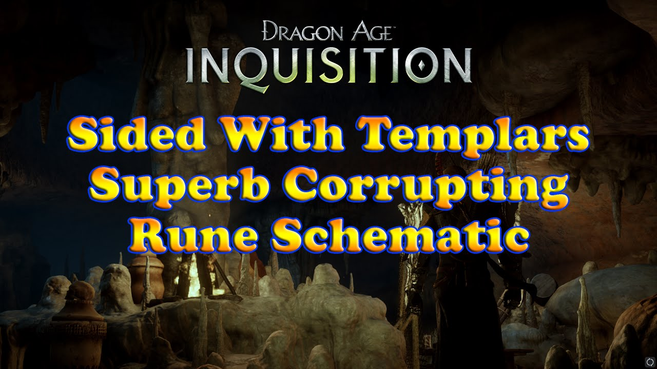 Dragon Age Inquisition Superb Corrupting Rune Schematic