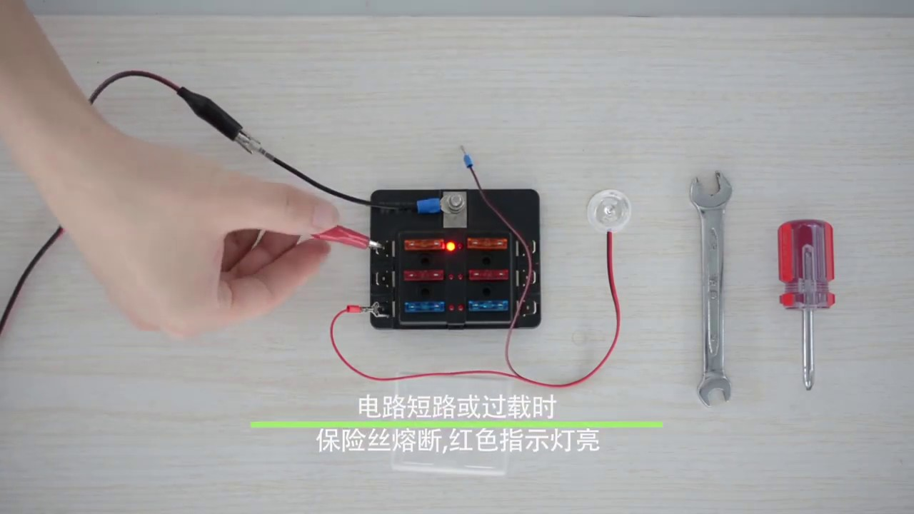 blade fuse box block holder fuses led circuit standard ato atc auto car truck [ 1280 x 720 Pixel ]