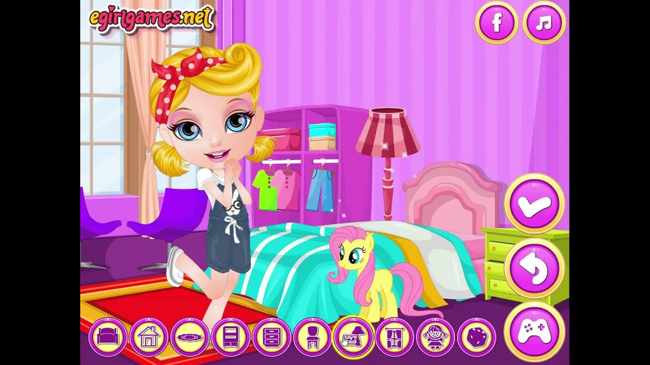 Room decorating games mafa for Decoration barbie