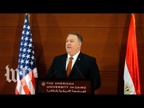 Pompeo's Cairo address, in 3 minutes