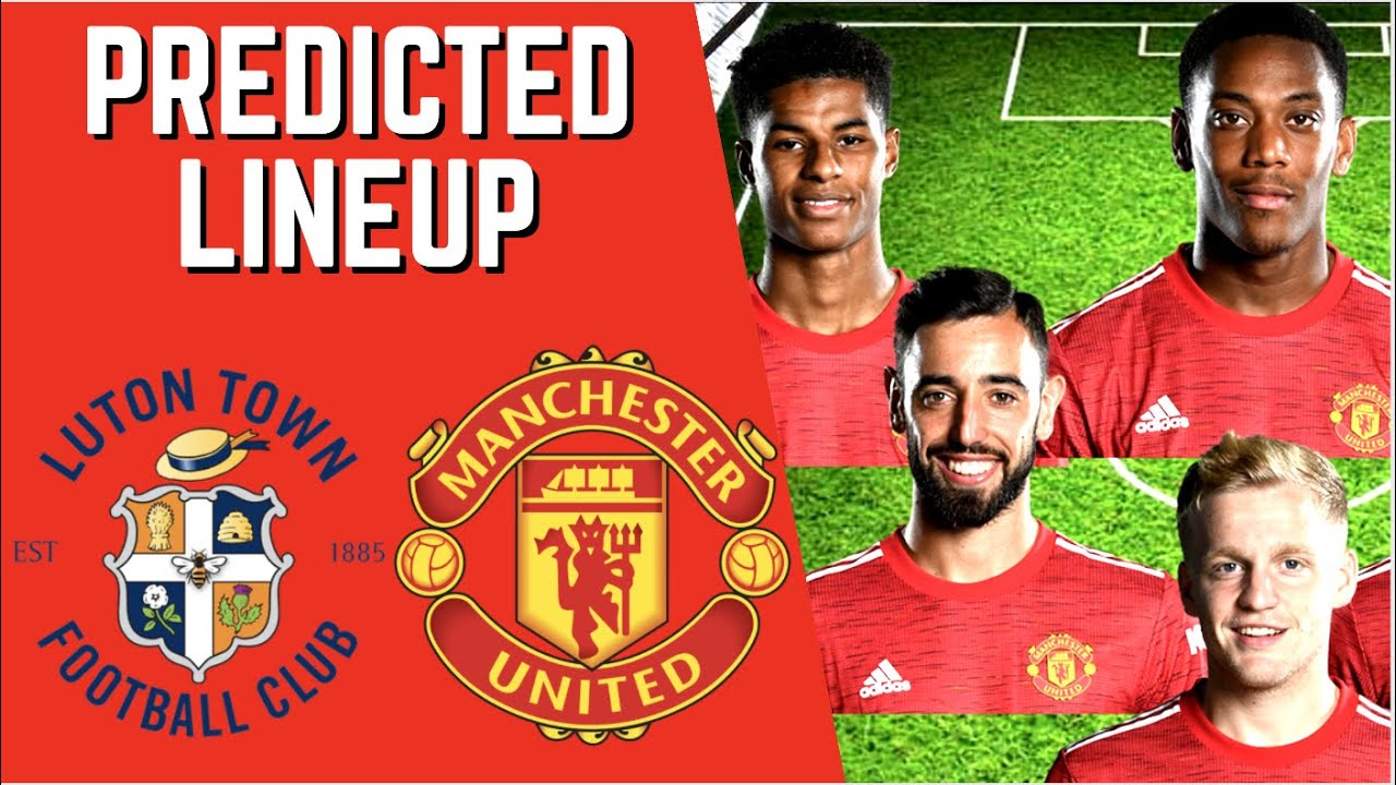 PREDICTED LINEUP - LUTON TOWN VS MANCHESTER UNITED - EFL CUP 2020/21!