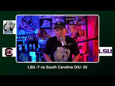 LSU vs South Carolina Free College Football Picks and Predictions CFB Tips Saturday 10/24/20