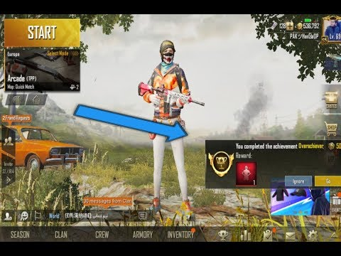 How To Get The *Over Achiever* Title In Pubg mobile | Easy Way To Get Over Achiever Title