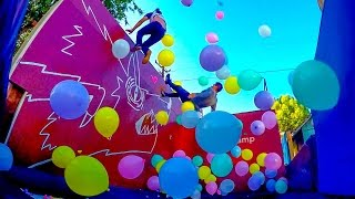 1 000 balloons on a trampoline w sam colby