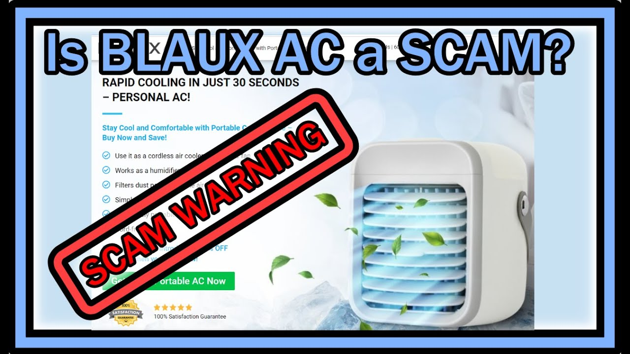 Is BLAUX Portable AC a SCAM or A Great Deal? - YouTube