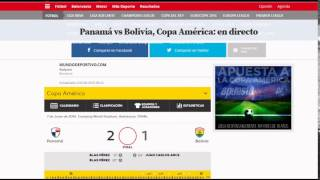 Panama vs Bolivia