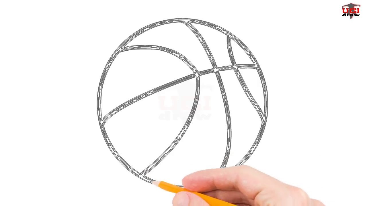 how to draw a basketball step by step easy for beginners