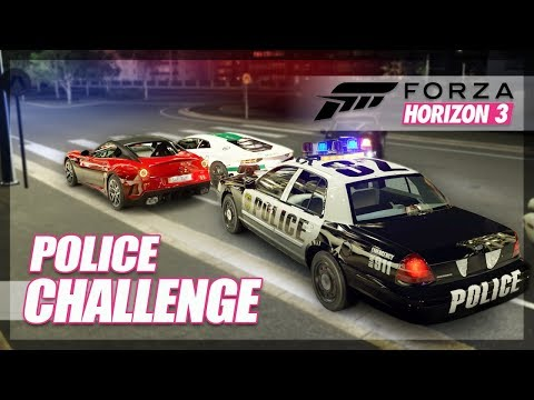 Forza Horizon 3 - Police Challenge! (Best Police Car, Police Chases)