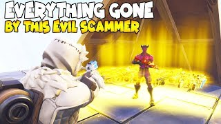 Raging Scammer Nearly Scams EVERYTHING! (Scammer Gets Scammed) Fortnite Save The World