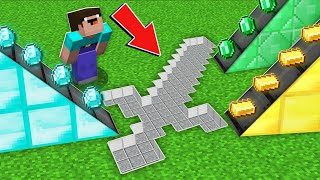 Minecraft NOOB vs PRO:WHY NOOB PLACED RAREST TREASURES IN BIGGEST SWORD FORM Challenge 100% trolling