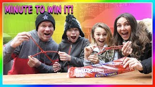 MINUTE TO WIN IT FAMILY EDITION | We Are The Davises