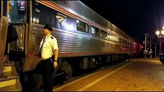 Amtrak After Dark: Northeast Regional (#140) Complete Station Stop: Windsor, Connecticut