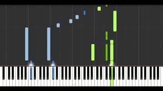 Porco Rosso - Once In A While Talk Of The Old Days (Piano Tutorial Synthesia)