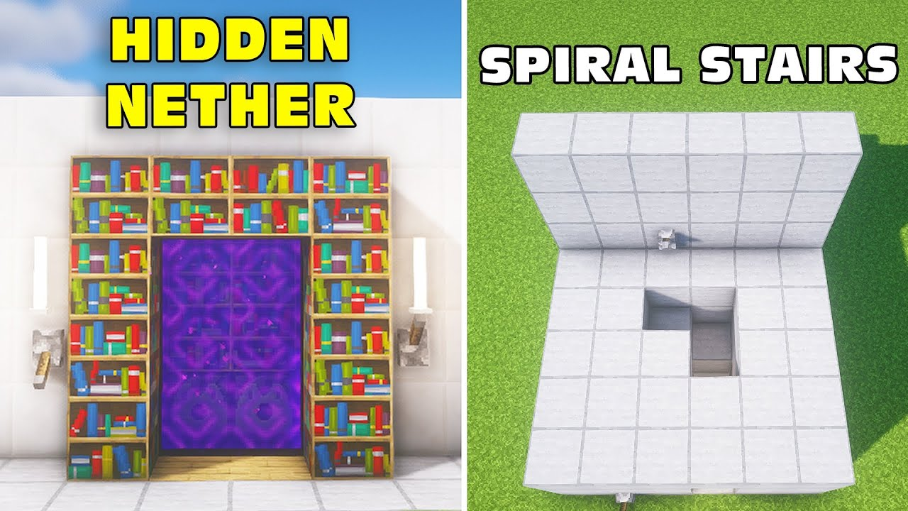 Minecraft: 3+ Redstone Build Hacks (Hidden Nether) #17