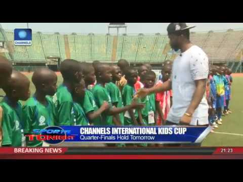Channels Int'l Kids Cup: S.Eagles Star, Joseph Yobo Surprises Boys During Games