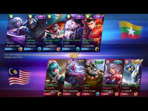Let's Watch - Mobile Legend National Arena Contest: Malaysia vs Myanmar (Round 1)