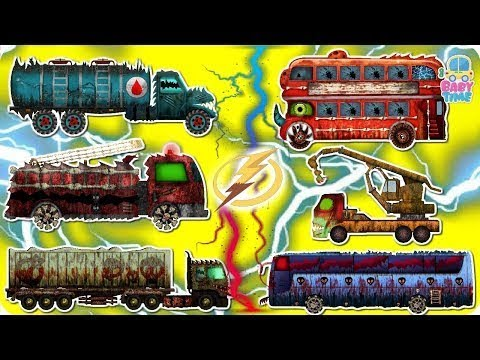 Scary Wrong Head - Fire Truck, Garbage Truck, Transport Truck, Water Tank - Heavy Street Vehicles