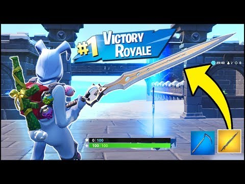 *NEW* Fortnite Infinity Blade Victory Royale Gameplay (Fortnite Sword Update V7.01)