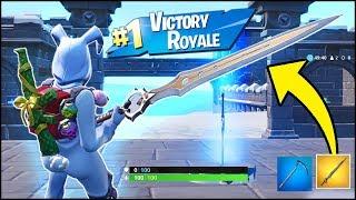 *NEW* Fortnite Infinity Blade Victory Royale Gameplay (Fortnite Sword Update v7.01)