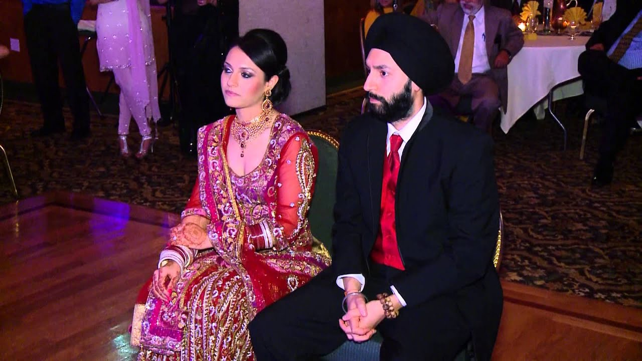 Tania and Manpreets Sikh Wedding Reception YouTube