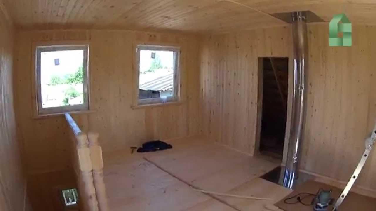 Дачные домики на базе бытовки - YouTube
