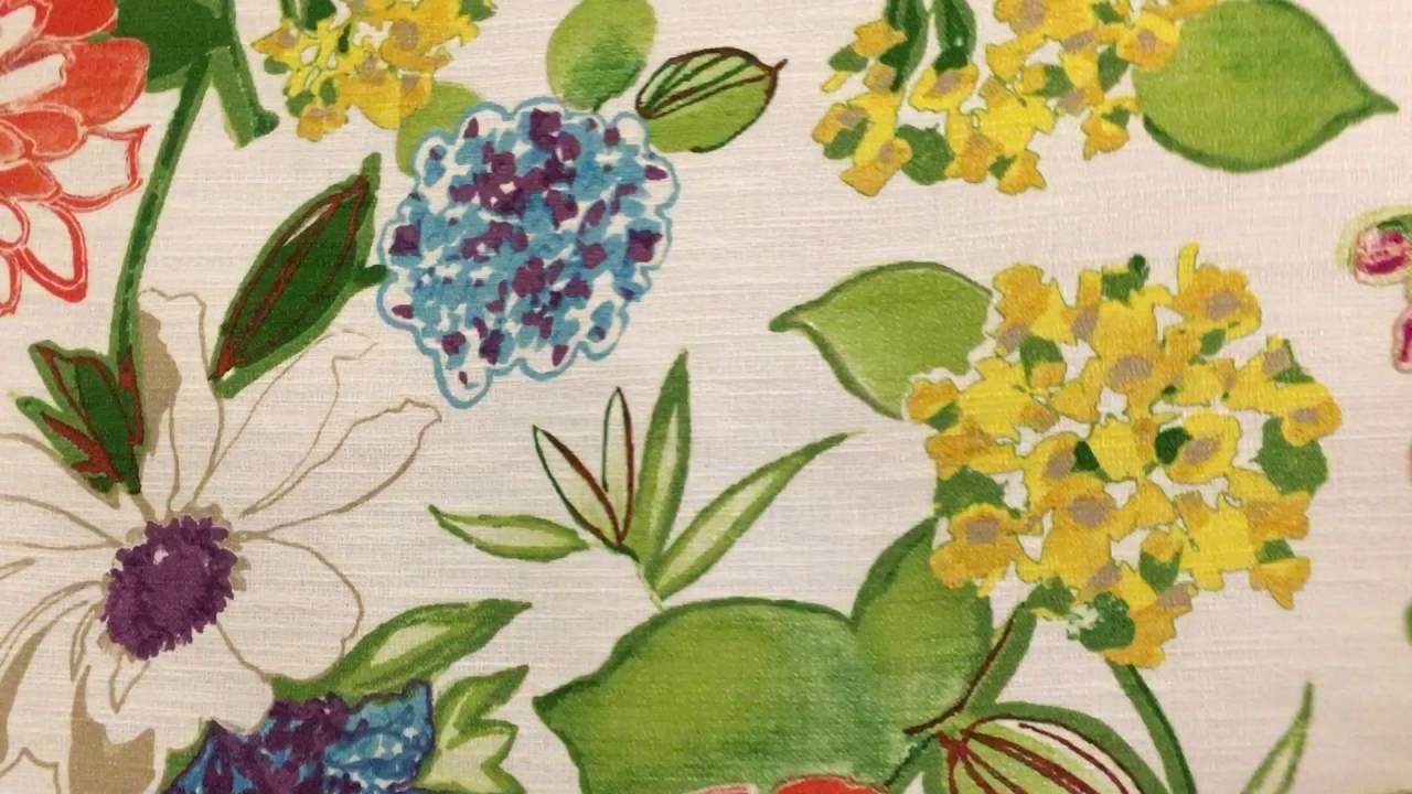 Mill Creek Fabrics Large Vivid Floral Print On White 54 Home Decor