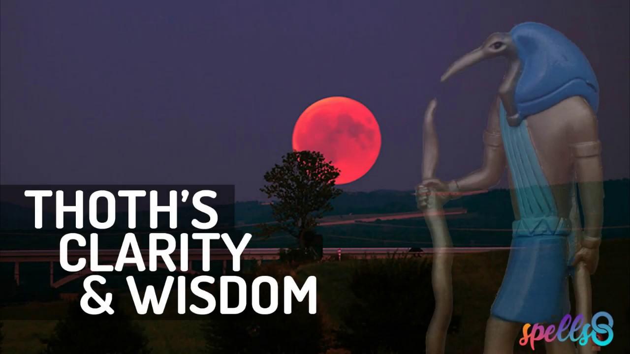 Thoth's Prayer 🌙🌌 Clarity & Wisdom Devotional Wiccan Invocation Hymn