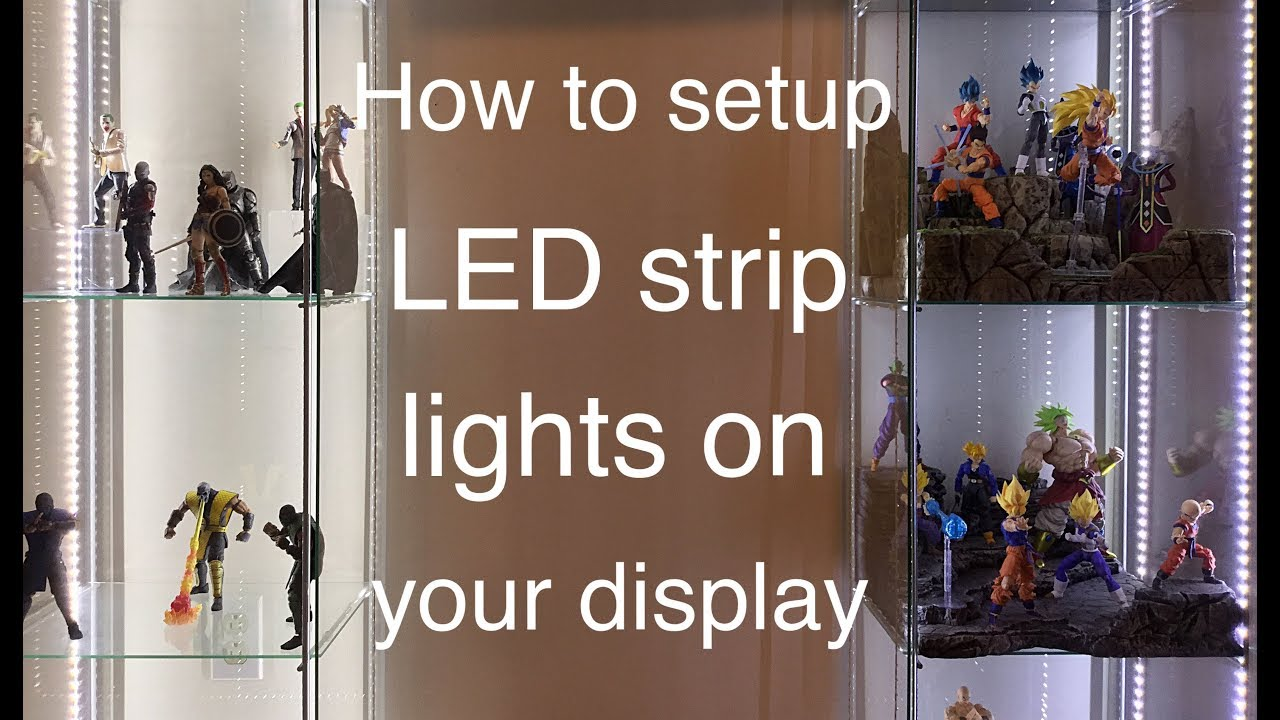 How to set LED Strip Lights on Your Detolf Shelf or