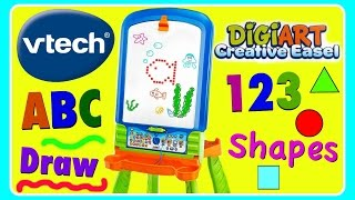 VTech DigiArt Creative Easel! LEARN ABC Alphabet, 123 NUMBERS, SHAPES! Learning Toy For Toddlers & B