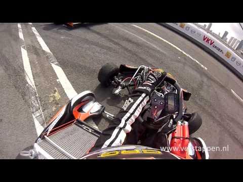 Demo Max Verstappen Helmet Cam Exclusive Footage (CRG), VKV City Racing Rotterdam 2013