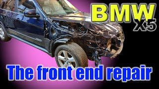 Download BMW X5. The front end repair. Ремонт переда. Mp3 and Videos