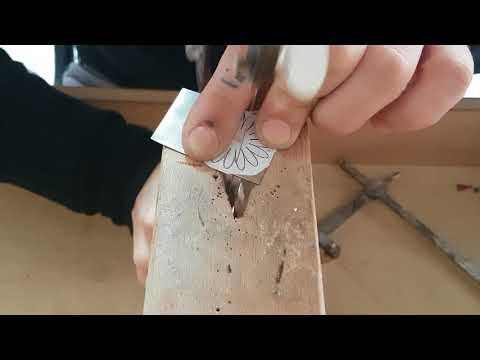 Sawing a Silver Daisy necklace real time