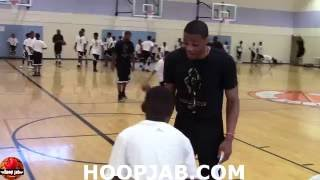 Russell Westbrook Inspires Young Kid To Not Give Up! HoopJab