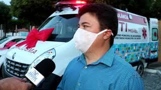 Prefeito Juju e sua equipe realizam ato simbólico de entrega de UTI móvel e viaturas para a saúde; g