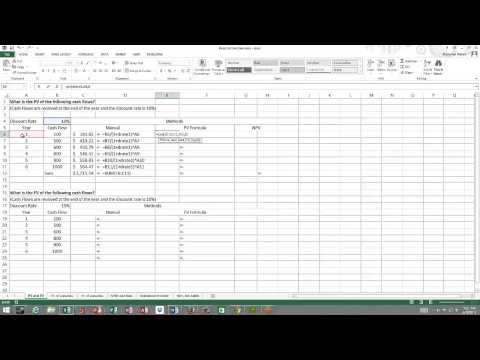 PV, FV, and NPV in Excel