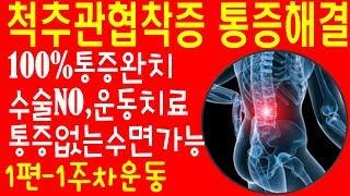 척추관협착증운동 다리저림 하지방사통해결운동 척추통증해결…