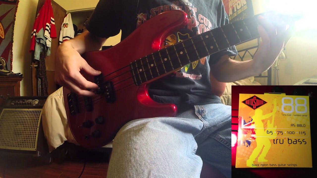 string comparison rotosound tru bass d 39 addario nylon tapewound youtube. Black Bedroom Furniture Sets. Home Design Ideas