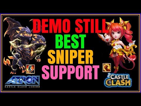 DEMO STILL BEST SNIPER SUPPORT - WALLA SKILL 12 - CASTLE CLASH
