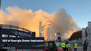 The Georgia Dome implosion in 360 degrees thumbnail
