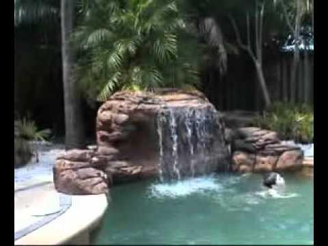 The Oasis Swimming Pool Waterfalls Kit Youtube