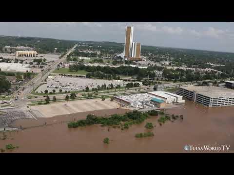 Tulsa flooding: Aerial coverage of Flooding along the Arkansas River, Skiatook, and Broken Arrow