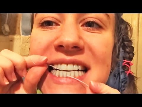 Как правильно пользоваться зубной нитью видео