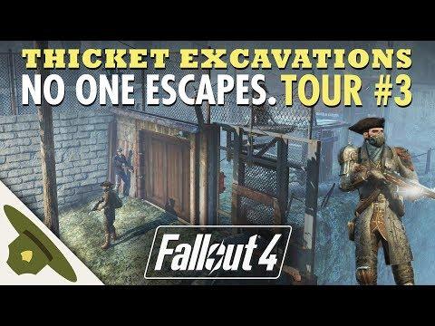 NO ONE ESCAPES Thicket Excavations Prison   Huge Fallout 4 settlement tour - PART 3 thumbnail