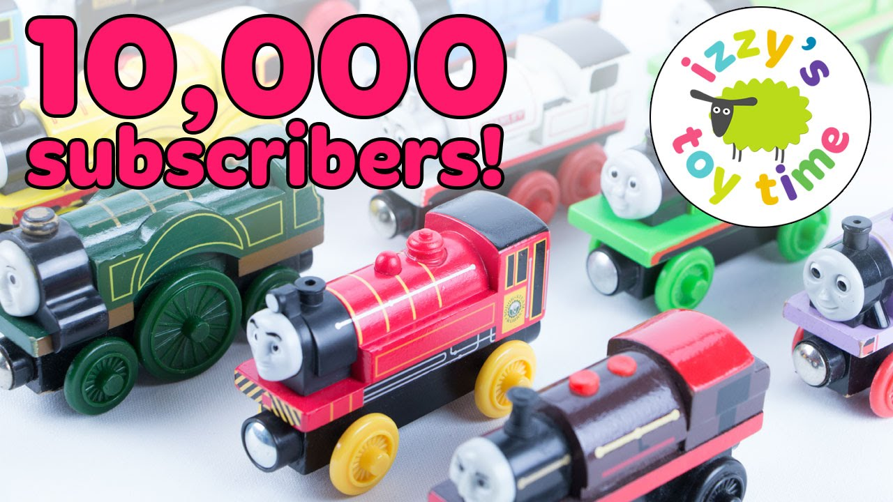 Thomas And Friends Wooden Railway 10000 Subscribers Huge Thomas Train Set Toy Trains For Kids